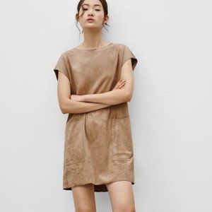 Aritzia Wilfred Free Nori Vegan Faux Suede Dress